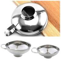 Stainless Steel Funnel Metal Fill Jam Jar Wide Neck Z9V9. Kitchen Tool S/L- O4A7