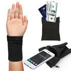 Wrist Wallet, Sports Zipper Wrist Pouch Wristband Pocket for Cell Phone ID Cards