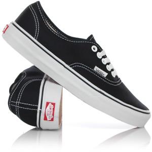 Vans Classic Authentic Mens Canvas Casual Shoes Sneaker Black White