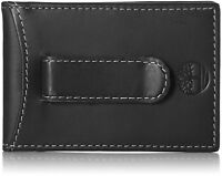Timberland Men's Hunter Flip Clip Leather Wallet Black