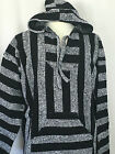 Mexican Hoodie Baja Hippie Surfer Poncho Sweater Assorted Colors and Sizes