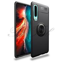 For Huawei P30 ELE-L09 New Black Shock Proof Ring Magnetic Kickstand Phone Cover