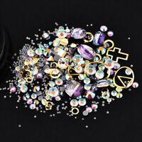 Nail Art 3D DIY Rose Rhinestones Jewelry Gems Decoration Mix Nail Art Glitter
