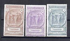 ITALIA REGNO, 1923 PRO PREVIDENZA CAMICIE NERE SASS 147-149 MH *