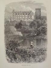 Chateau De Pau Pyrenees France Antique Engraving 1878