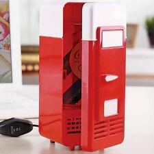 Portable PC LED Mini USB Fridge Freezer Refrigerator Cans Drink Cooler Warmer