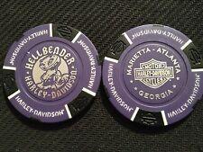 Harley Davidson Poker Chip (Purple & Black GIGI) Hellbender Marietta, Georgia