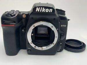 "NIKON  D7500 20.9 MP DIGITAL CAMERA ""Mint"" BLACK BODY ONLY FROM JAPAN"