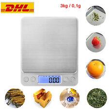3kg 0,1g Digital LCD Küchenwaage Feinwage Präzision Briefwaage Gold-&Münzwaage
