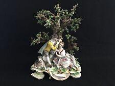 New listing Antique German Dresden Porcelain Volkstedt Porzellan Manufaktur Lovers Courting
