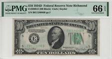 1934 D $10 FEDERAL RESERVE NOTE RICHMOND FR.2009-E PMG GEM UNC 66 EPQ (006B)