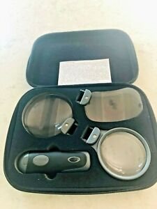 Carson Remov-A-Lens 3-in-1 LED Lighted Hand-Held Magnifier Set + 3 Interchangeab