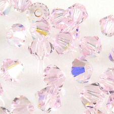 200 cristal bicone 4 mm perlas beads spacer encararán bricolaje Rocailles