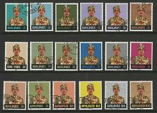 Brunei 1975-78 Complete set SG 244-259 Fine used.