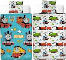 """Thomas the Tank Rideon """"Reversible"""" Single Duvet Cover with Matching Pillow Case"""