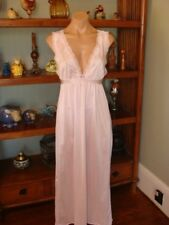 "Ladies/Women's Vintage Undercover Wear Long Nylon Nightgown - Bust to 32""  -Pink"