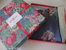 CATH KIDSTON Floral Blues Pinks Roses Sq Scarf Shawl 100% Silk BNWT Gift Box