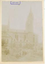 Allemagne, église, ville à identifier  Vintage albumen print,  Tirage albumi