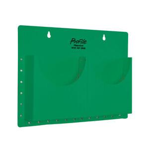 CLASSROOM OFFICE A4 FILAPOCKET 2 POCKETS WALL HANGING STORAGE - GREEN