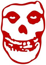 8709 Red Misfits Crimson Ghost Skull Punk Band Rub On Vinyl Sticker / Decal
