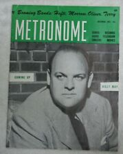 Vintage Metronome Music Magazine Dec 1951 Coming Up Billy May