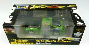 NEW REVELL THE FAST AND THE FURIOUS MITSUBISHI ECLIPSE & BRIAN ACTION FIGURE