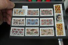 Timbre France oblitéré série complète 2019 12 timbres sur les tissus Africain