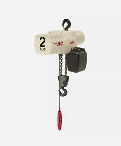 Coffing 2 Ton CHAIN Hoist JLC4008-1-15 Single Phase Hoist Speed: 8 FPM NEW!!