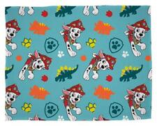 Paw Patrol Dino Rescue Flannel Fleece Blanket Bed Throw Matches Bedding