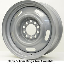 VISION 55 Steel Rally 15X8 5x4.75 -6 Offset Silver (Qty of 1)