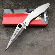 Steel Handle Full Serrated Klinge Hunting Knife Jagdmesser Tacticalmesser Messer