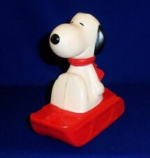 Vintage Peanuts Avon Bubble Bath Bottle with Cap - Snoopy on a Sled 6""