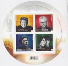 CANADA 2011 Souvenir Sheet #2482b Canadian Recording Artists MNH
