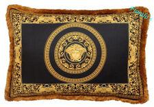 """VERSACE Viale Medusa Pillow - 17.7"""" x 25.59"""" - Black/Gold"""