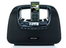 Memorex MI3X-BLK Black Mini Move Portable Boombox - Ipod Dock - FM Radio PERFECT