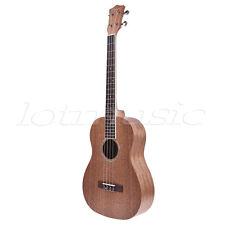 Baritone Ukulele Hawaii Ukelele Uke Guitar 30 Inch Mahogany Abalone Soundhole