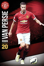 Robin van Persie SUPERSTAR 2014/15 Manchester United FC Soccer Action Poster