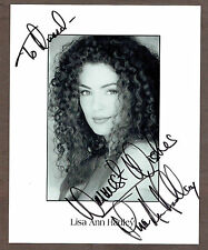 1997era Lisa Ann Hadley (Dr.Julie, Port Charles)  Autographed 8x10 + Reply Note