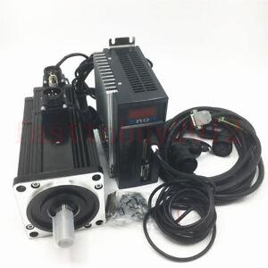 800W 4NM CNC Servo Brake Motor NEMA42 & AC 220V Driver Kit 2000RPM CNC Milling