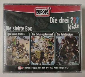 DIE DREI ??? FRAGEZEICHEN KIDS = BOX 7 = 3 FOLGEN 19 20 21 CDs NEU in Folie