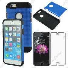 """Coque Housse Etui Armor Policarbonate Mesh Bleu Apple iPhone 6 4,7"""" Verre"""