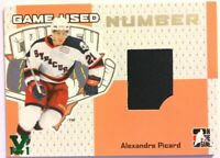 2006-07 ITG Heroes & Prospects Game-Used Number Alexandre Picard Vault Green 1/1