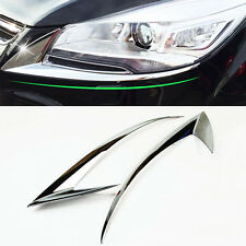FOR FORD ESCAPE KUGA HEADLIGHT FRONT LIGHT LAMP CHROME COVER EYEBROW BOTTOM TRIM