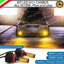 KIT LED H11 FENDINEBBIA FORD MONDEO IV 3000K GIALLO 9800 LUMEN