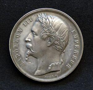 Pour La Paix de VILlA FRANCA 1859 France/Italie- Médaille Second empire en étain