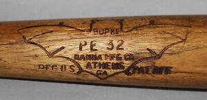 Antique Vintage 1930's Hanna Burke Batrite PE32 Bat Logo wood baseball bat