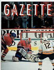 1991-92  Pro Set  Gazette Magazine & card  Patrick Roy on cover