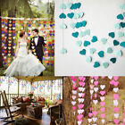 2/3/4M Heart Round Wedding Paper Bunting Banner Photo Props Party Hanging Decor