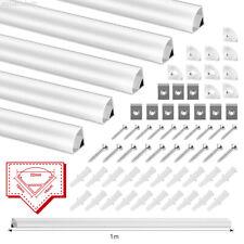 LED Aluprofil Aluminium Profile 5x 1m Alu Schiene Leiste für LED-Streifen Leucht
