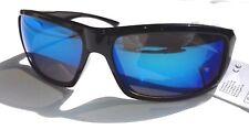 Lunette soleil bleues pour homme modèle sportif  +  Pochette à lunette.